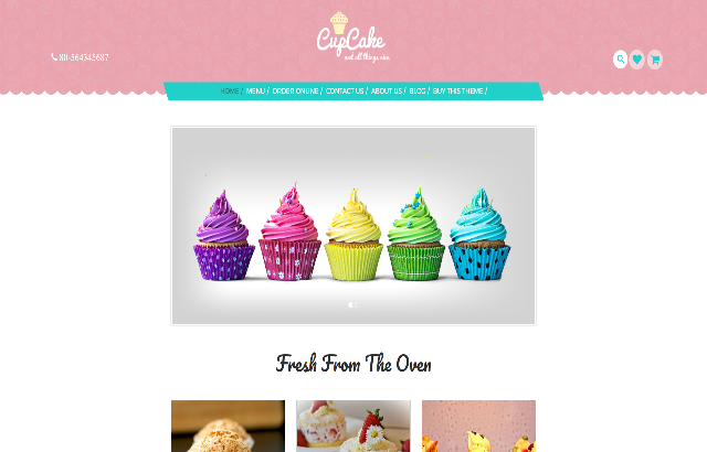 CupCake Food WordPress Theme