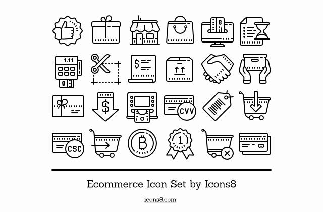 An awesome goodie awaits you – ECommerce Icons Set