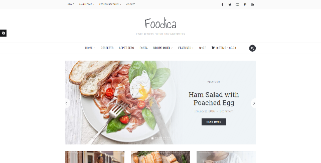 Foodica food WordPress theme