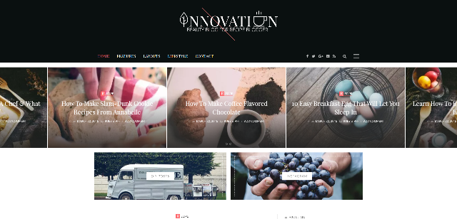 Innovation Food WP theme