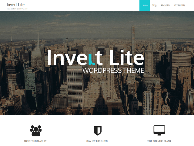 Invert Lite Free WP Theme