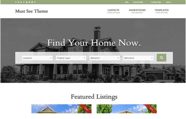 Must See Real Estate WordPress Theme