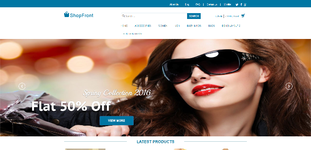 ShopFront eCommerce WordPress theme