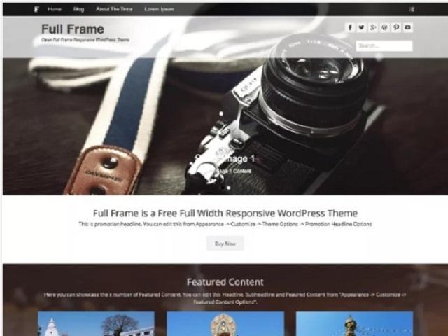 Full Frame WP Theme