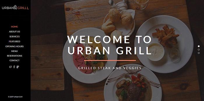 Urban Grill - Horizontal Scrolling