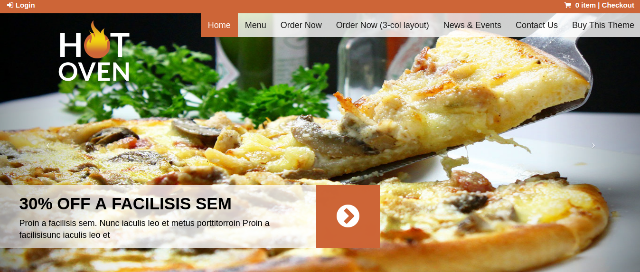 Hot Oven Food WordPress Theme