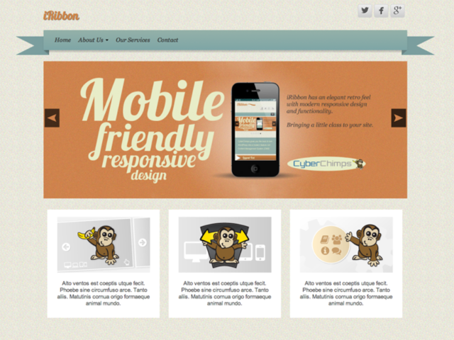 iRibbon Small Business WordPress Theme