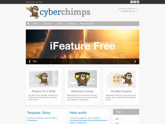 Best free small business wordpress themes business wp themes ifeature small business wordpress theme flashek Choice Image