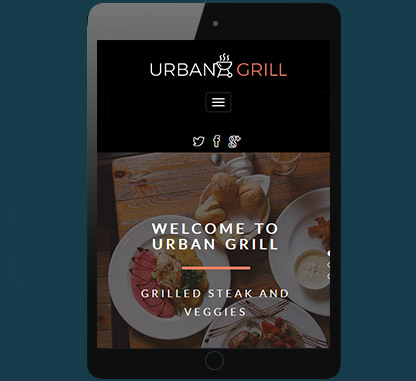Urban Grill Single Page WP theme