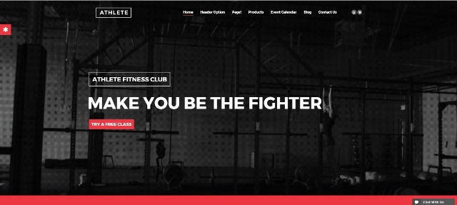 Athlete Fitness WordPress fitness theme