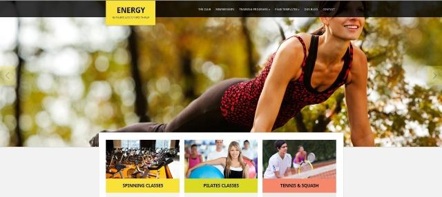 Energy multipurpose WordPress fitness theme