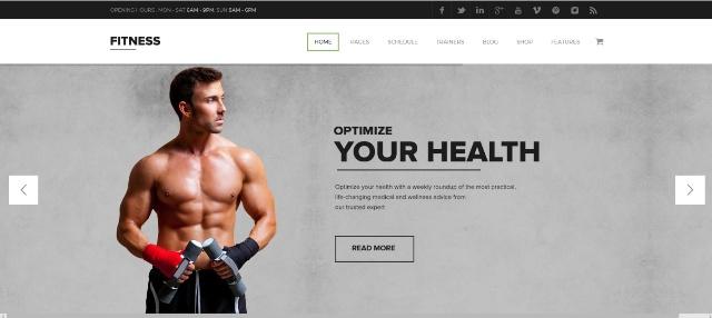 Premium WordPress fitness theme
