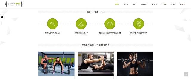 Fitness Zone WordPress fitness theme