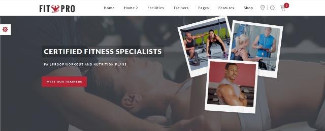 FitPro WordPress fitness theme