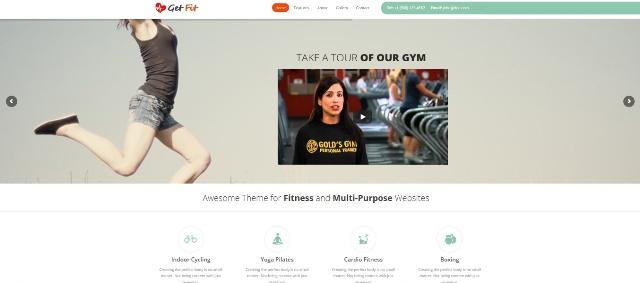 versatile WordPress fitness theme