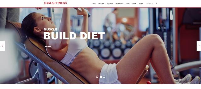 WordPress theme for gyms