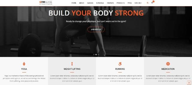 Gym Edge WordPress fitness theme