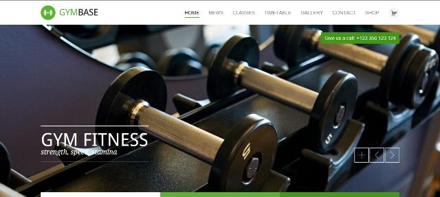 Responsive WordPress fitness theme