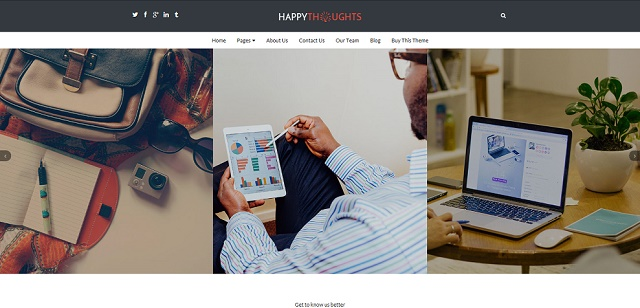 happy thoughts slider WordPress theme