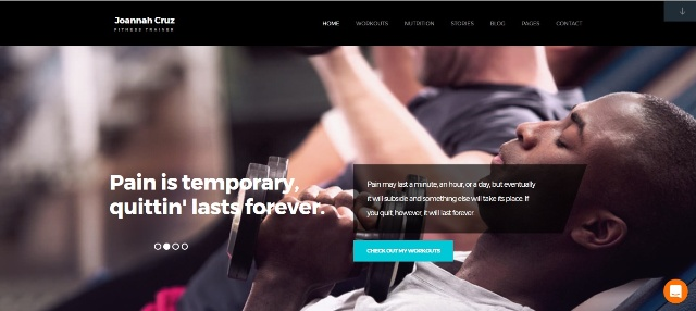 Motivating WordPress fitness theme