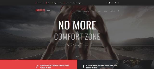 Infinite multipurpose WordPress fitness theme