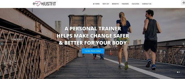 Justfit versatile WordPress fitness theme
