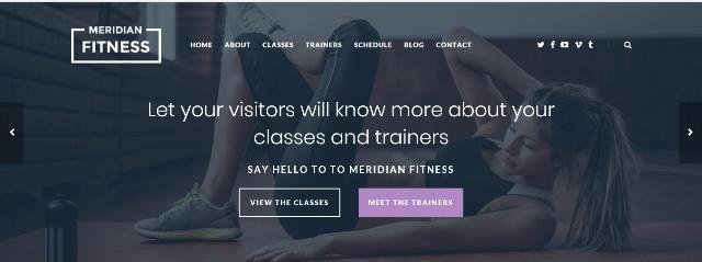 Female-centric WordPress fitness theme