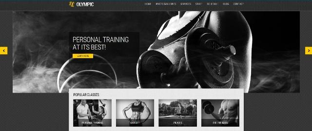 Olympic minimal WordPress fitness theme