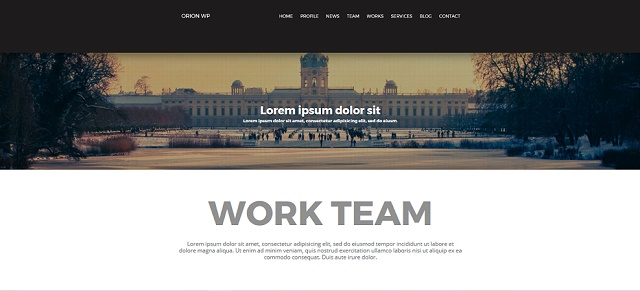 Orion wordPress Theme with Slider