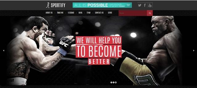Sportify - WordPress fitness theme