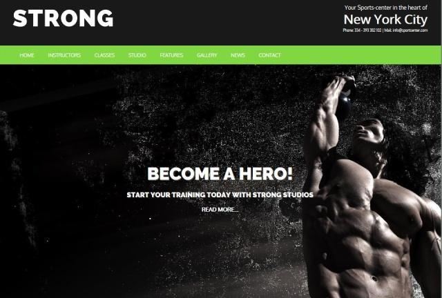 Elegant WordPress fitness theme