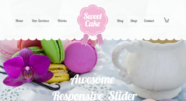 Sweet Cake WordPress Theme
