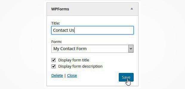 WPForms - save