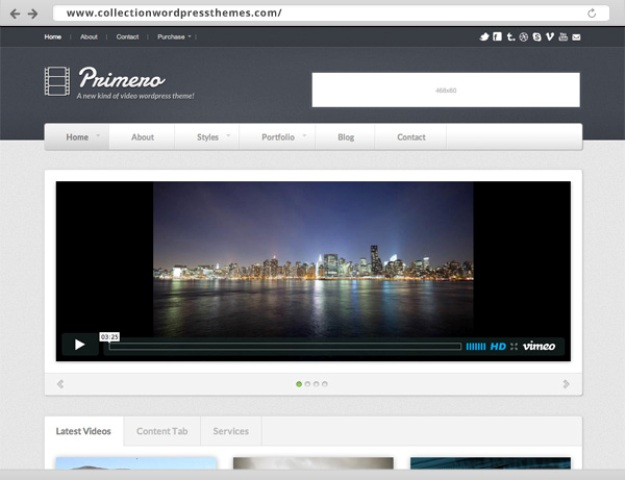 best video WordPress theme for portfolios