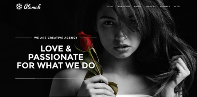 One page WordPress theme for designers