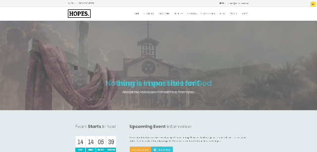 Hopes- Best church WordPress theme
