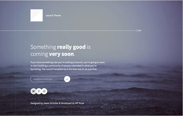 The modern coming soon WordPress theme
