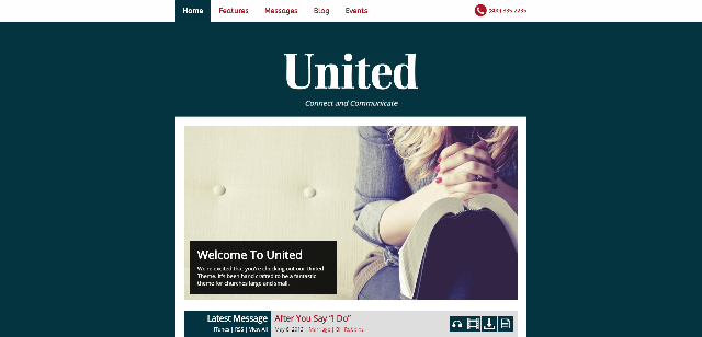 United - church WordPress theme