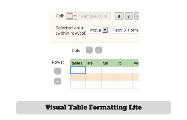 Visual Table Formatting Lite Plugin