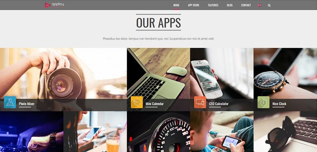 coming soon WordPress theme for app stores