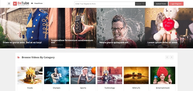 feature-rich video WordPress theme