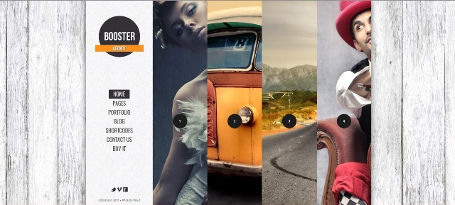 Selectively responsive one page WordPress theme
