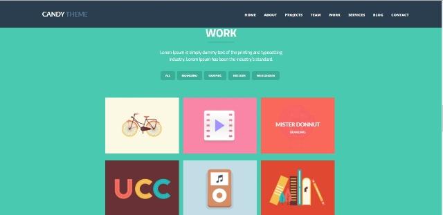 Cute one page WordPress theme