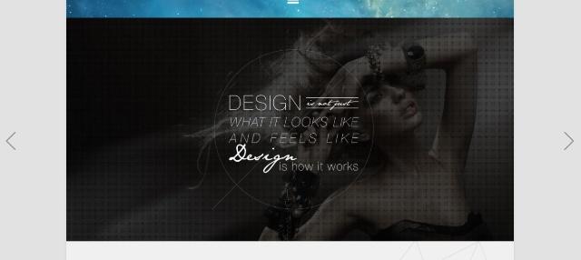 iOS7 inspired one page WordPress theme