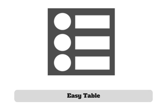 Easy Table Plugin
