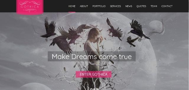 Visually impactful one page WordPress theme
