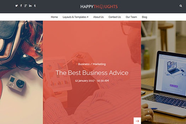 Happy thoughts Business WP Theme