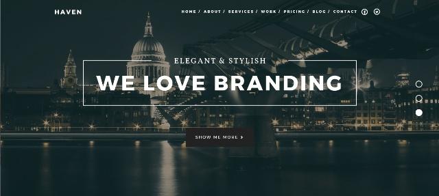 Elegant one page WordPress theme