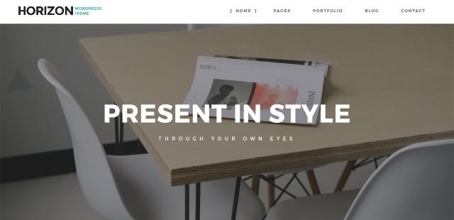 Stunning one page WordPress theme