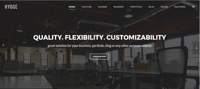 One page portfolio WordPress theme